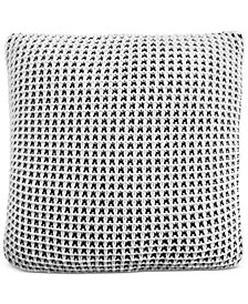 """CLOSEOUT! Two-Tone Knit 20"""" Square Decorative Pillow, Created for Macy's"""
