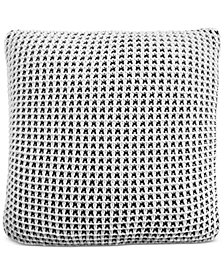 """Charter Club Damask Designs Two-Tone Knit 20"""" Square Decorative Pillow, Created for Macy's"""