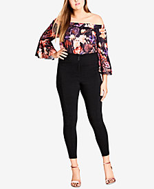 City Chic Trendy Plus Size High-Rise Skinny Pants