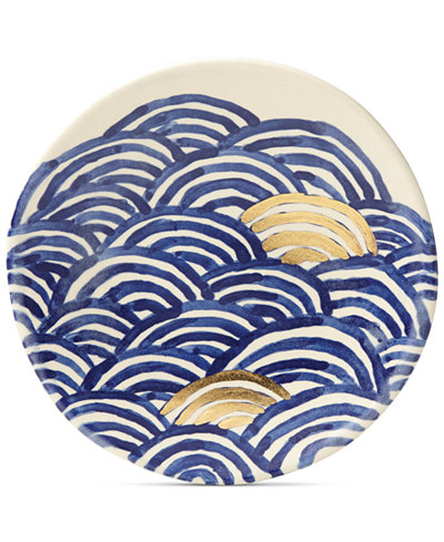 Crafted by Wainwright Pompeii Blu Sea Salad Plate, Created for Macy's