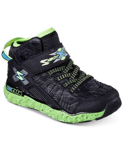 3e26f4a70bc9 ... Skechers Little Boys  Skech-X  Cosmic Foam High Top Casual Sneakers  from Finish ...