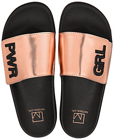 Material Girl Paige Pool Slides, Created for Macy's