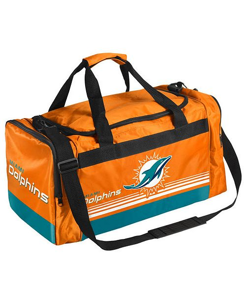 Forever Collectibles Miami Dolphins Striped Core Duffle Bag