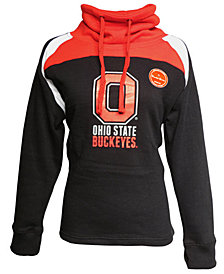 J America Women's Ohio State Buckeyes Funnel Neck Hooded Sweatshirt