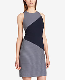 Tommy Hilfiger Colorblock Striped Sheath Dress