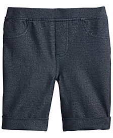 Epic Threads Toddler Girls Denim-Knit Bermuda Shorts, Created for Macy's