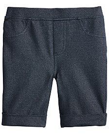 Epic Threads Little Girls Denim-Knit Bermuda Shorts, Created for Macy's