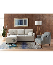 "Lidia 82"" Fabric Reversible Sectional Sofa Collection, Created for Macy's"