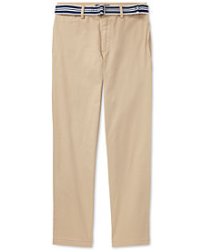 Ralph Lauren Skinny Fit Pants & Belt Set, Big Boys