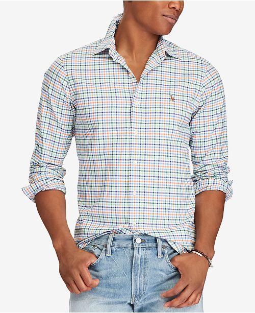 933c8a4b3bdc7 ... Oxford Shirt  Polo Ralph Lauren Men s Slim-Fit Stretch Oxford ...