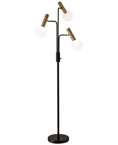 Adesso sinclair led 3 arm floor lamp lighting lamps home macys main image aloadofball Image collections