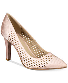 Rialto Moreen Perforated Pointed-Toe Pumps