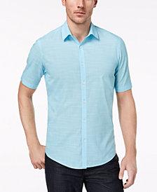 Alfani Men's Warren No Pocket Short Sleeve Shirt, Created for Macy's