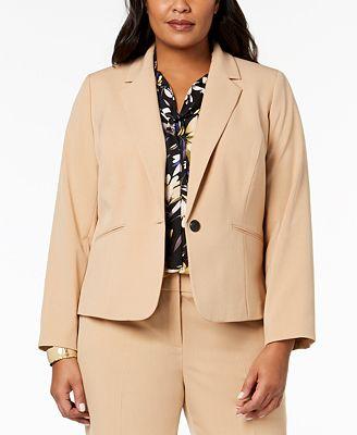 Nine West Plus Size One Button Blazer Jackets Women Macy S