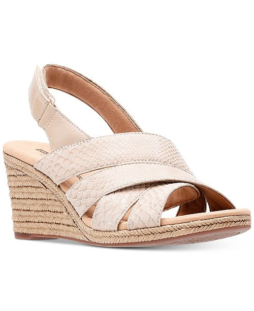 Clarks Collection Women s Lafely Krissy Wedge Sandals 24564c3edd