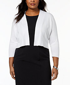 Calvin Klein Plus Size Open-Front Shrug