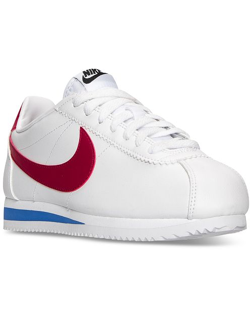 Escritor programa archivo  Nike Women's Classic Cortez Leather Casual Sneakers from Finish ...