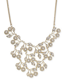 """I.N.C. Rose Gold-Tone Pearl & Crystal Statement Necklace, 16"""" + 3"""" extender, Created for Macy's"""