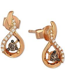 Chocolatier® Diamond Drop Earrings (1/5 ct. t.w.) in 14k Rose Gold