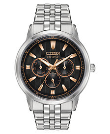 Citizen Eco-Drive Men's Corso Stainless Steel Bracelet Watch 44mm
