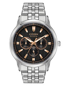 Citizen Eco-Drive Men's Corso Stainless Steel Bracelet Watch 44mm