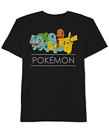 Pokémon Graphic-Print Cotton T-Shirt, Big Boys