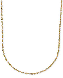 "20"" Italian Gold Two-Tone Perfectina Chain Necklace (1-1/3mm) in 14k Gold"