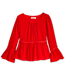 Kandy Kiss Peasant Blouse, Big Girls