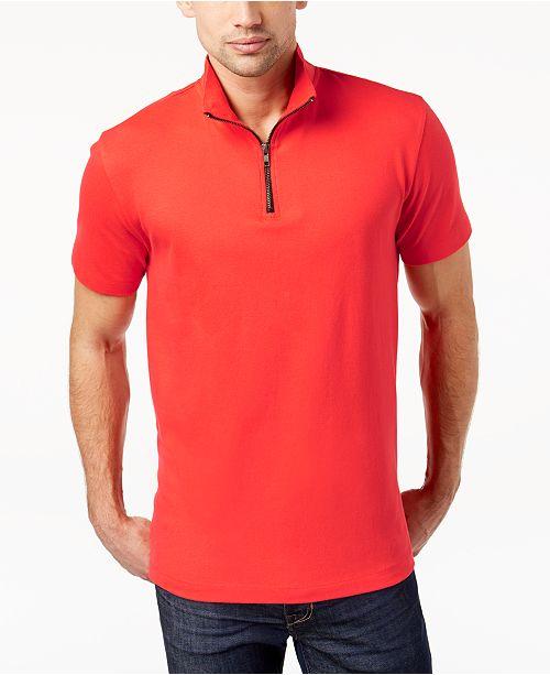 89b801aaa9 ... Kenneth Cole New York Kenneth Cole.Mock-Collar Biker T-Shirt ...