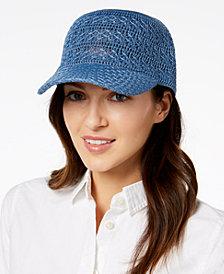 I.N.C. Crochet Packable Baseball Cap, Created for Macy's