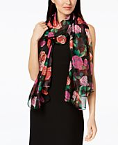 I.N.C. Tumbling Roses Wrap & Scarf in One, Created for Macy's