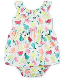 Carter's Fruit-Print Cotton Romper, Baby Girls