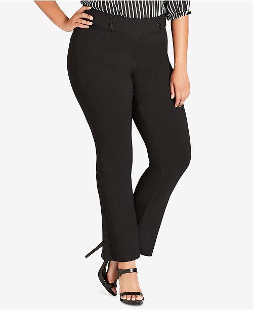 City Chic Trendy Plus Size Kick Flare Pants Pants Plus Sizes