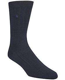 Men's Ribbed Crew Socks