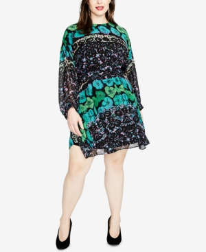 Rachel Roy TRENDY PLUS SIZE PRINTED DRESS, CREATED FOR MACY'S