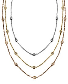 Trio by EFFY® Diamond Station Necklaces