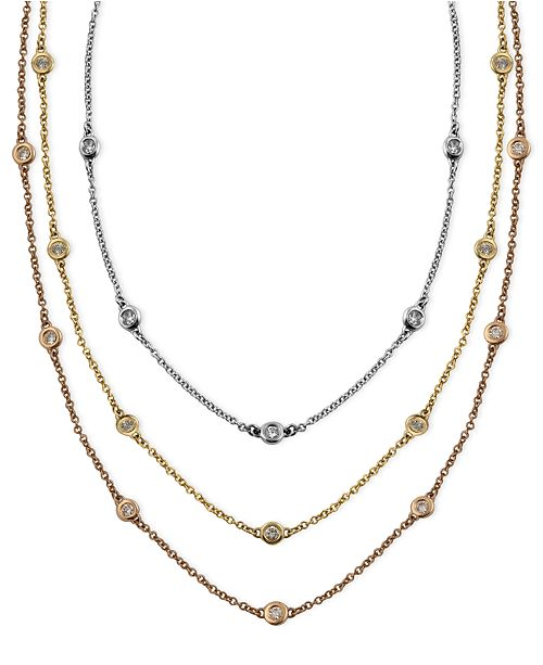 EFFY Collection Trio by EFFY Diamond Station Necklaces