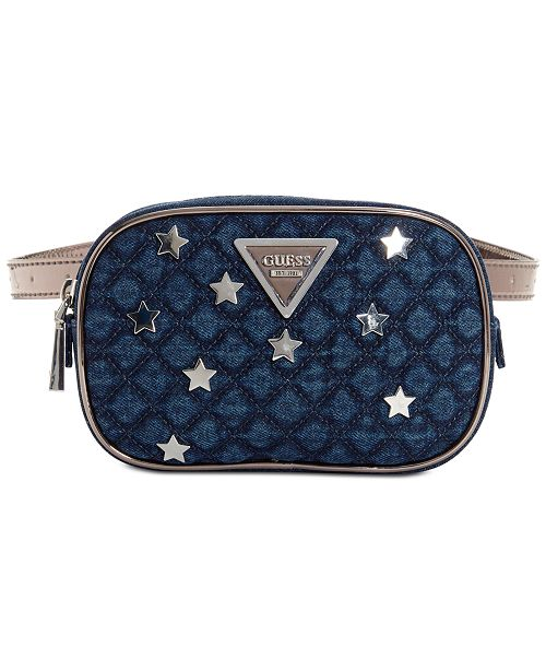 b48ba87afec GUESS Varsity Pop Belt Bag - Handbags   Accessories - Macy s