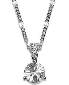 Necklace, Solitaire Crystal Pendant