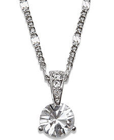 Swarovski Necklace, Solitaire Crystal Pendant