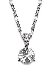 Swarovski Necklace, Solitaire Crystal Pendant
