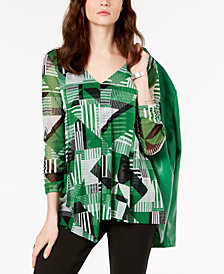 Alfani Draped Asymmetrical Top, Created for Macy's