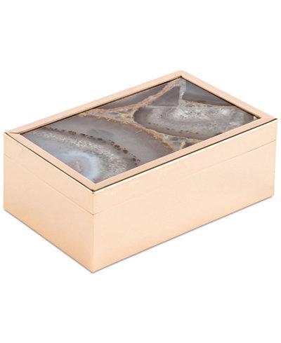 Zuo White Faux-Agate Small Decorative Box
