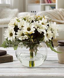 Pure Garden White Daisy Floral Arrangement with Vase