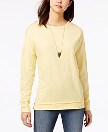 Ultra Flirt Juniors' Lace-Up Sweatshirt
