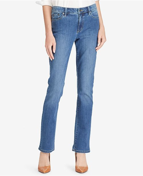 Lauren Ralph Lauren Super Stretch Premier Straight Jeans, Regular and Short Lengths