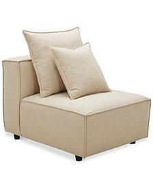 "Rainshire 32"" Performance Fabric Armless Chair, Created For Macy's"