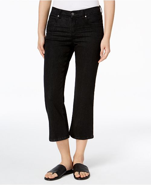 0541329037 ... Eileen Fisher Organic Cotton Cropped Flared Jeans