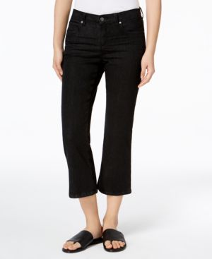 Eileen Fisher Organic Cotton Cropped Flared Jeans, Regular & Petite 5611318