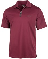 cbbaf7c4 Attack Life by Greg Norman Men's 5 Iron Zip Golf Polo, Created for Macy's